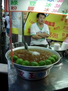 A food vendor at the night market