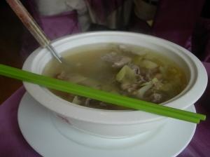 Huge bowl of duck soup