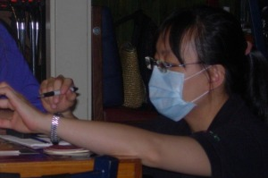 Common sight: People wearing surgical masks