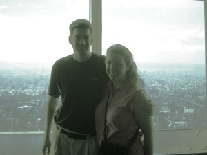 At the top of Taipei 101