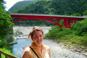 Cindy on Taroko Gorge Trail